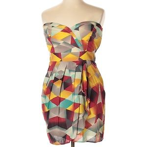 American Rag Strapless Multi-Color Dress